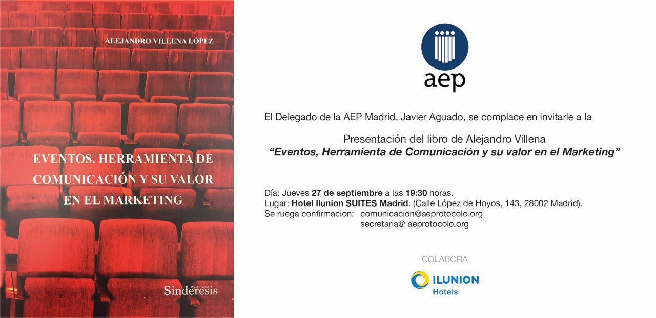 Presentacion del libro Alejandro VillenaPresentación del libro Eventos. Herramienta de Comunicación y su valor en el Marketing